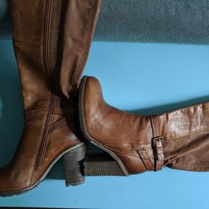 Brand New Brown Over the Knee Boots